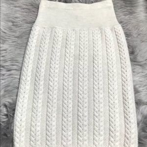 Escada women's skirt size 34 wool cable knit skirt